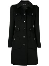 Boutique Moschino Classic Single Breasted Coat Black