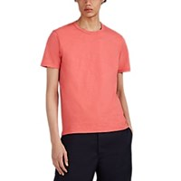 Alex Mill Striped Slub Cotton T Shirt Red