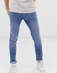 New Look Skinny Jeans In Mid Blue Wash