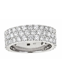 Neiman Marcus Diamonds Three Row Diamond Band Size 6.5