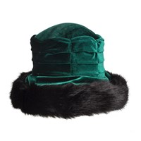 Dents Ladies Velvet Hat Evergreen