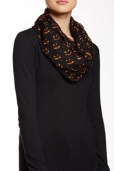 David And Young Scary Pumpkin Infinity Scarf Orange