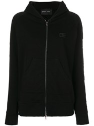 Baja East Fringe Hoodie Cotton Black