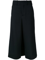 Ms Min Wide Legged Cropped Trousers Black