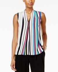 Nine West Striped Pleated Shell Candy Multi
