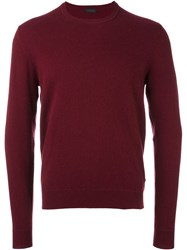 Z Zegna Crew Neck Pullover Red