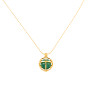 Kiki Minchin Women's The Roxy Cage Necklace Jade Green Gold