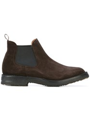 Buttero Classic Boots Men Leather Calf Suede Rubber 43 Brown