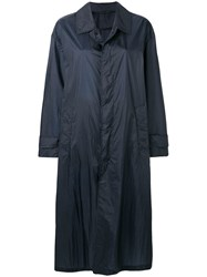 Mackintosh Navy Nylon Oversized Coat Lm 100B Blue