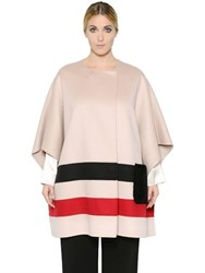 Marina Rinaldi Striped Wool Cape