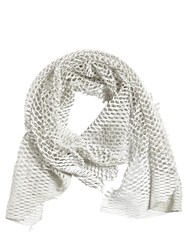 Cutuli Cult Laser Cut Leather Scarf Off White