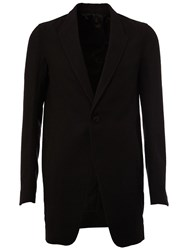 Rick Owens One Button Blazer Black