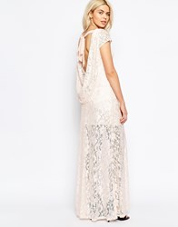 Girls On Film Lace Dress With Cowl Back Nude Pink