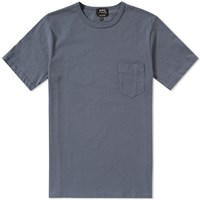 A.P.C. Stitch Pocket Tee Blue