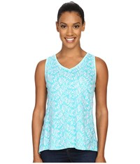 Woolrich Elemental Printed Tank Robins Egg Women's Sleeveless Blue