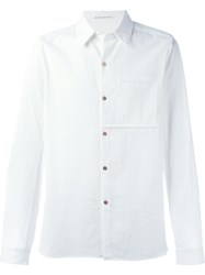 Individual Sentiments Woven One Pocket Shirt White