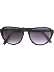 Yves Saint Laurent Vintage Aviator Sunglasses Black