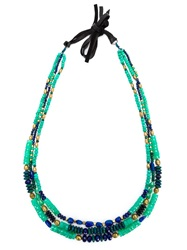 Royal Nomad Jewelry Mixed Stone Beaded Necklace Green