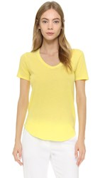 Atm Anthony Thomas Melillo Short Sleeve V Neck Tee Yellow