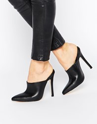 Truffle Collection Skye Point Heeled Mules Black