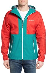 Columbia Men's Big Sandy Creek Rain Jacket Bright Red