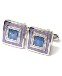 Geoffrey Beene Colored Square Cufflinks Purple