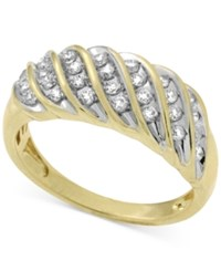 Macy's Wrapped In Love Diamond Band 1 2 Ct. T.W. In 10K Gold Only At Yellow Gold