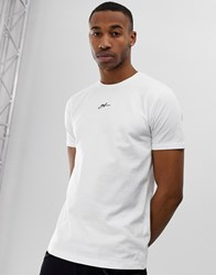Good For Nothing Muscle Fit T Shirt In White With Small Chest Logo