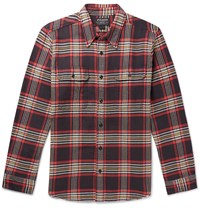 Filson Checked Cotton Flannel Shirt Red