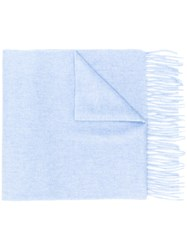 N.Peal Woven Scarf Blue