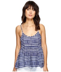 Roxy Retro Gold Top Blue Depths Olmeque Stripe Women's Sleeveless