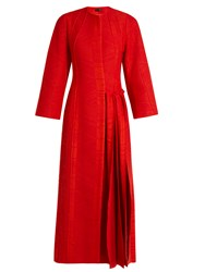 Carl Kapp Flame Pleated Side Coat Red