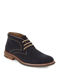 G.H. Bass Hurley Lace Up Suede Chukka Boots Navy