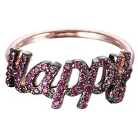 I Am Jewelry By Jamie Park Happy Ring Pink Gold Vermeil