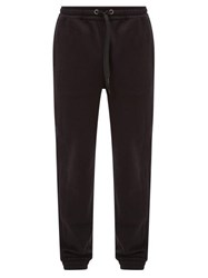 Burberry Atler House Checked Cotton Jersey Track Pants Black