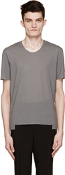 Cnc Costume National Grey Exposed Seams T Shirt