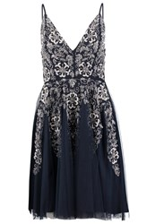 Lace And Beads Roxanne Cocktail Dress Party Dress Navy Dark Blue