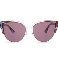 Christian Dior Floral Cat Eye Sunglasses Tortoise Pink
