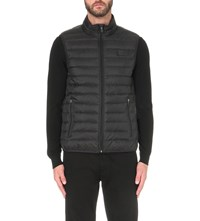 Armani Jeans Quilted Shell Gilet Black