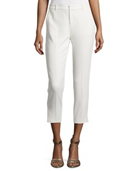 Haute Hippie Cropped Tuxedo Pants W Piping Antique Ivory