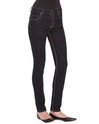 Tomas Maier Low Rise Straight Leg Denim Jeans Dark Navy