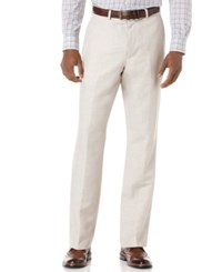 Perry Ellis Men's Big And Tall Linen Blend Herringbone Pants Natural Linen