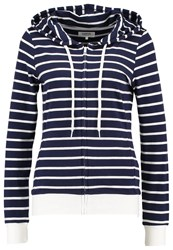 Zalando Essentials Tracksuit Top Navy White Dark Blue
