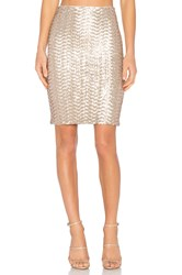 Alice Olivia Ramos Sequin Midi Skirt Metallic Bronze