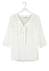 Only Onlnessie Tunic Cloud Dancer Off White
