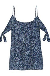 Bailey 44 Wahine Ditsy Cold Shoulder Floral Print Gauze Top Navy