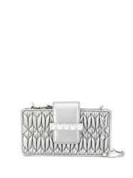 Miu Miu Metallic Crystal Embellished Clutch 60