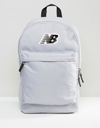 New Balance Classic Logo Backpack In Grey Silver Mink