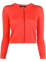 Paule Ka Cropped Slim Fit Cardigan Red