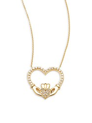 Kc Designs 14K Yellow Gold And Diamond Heart Pendant Necklace